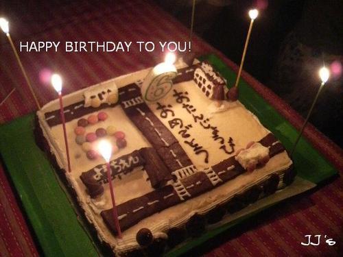 6歳の誕生日ケーキ(長男)